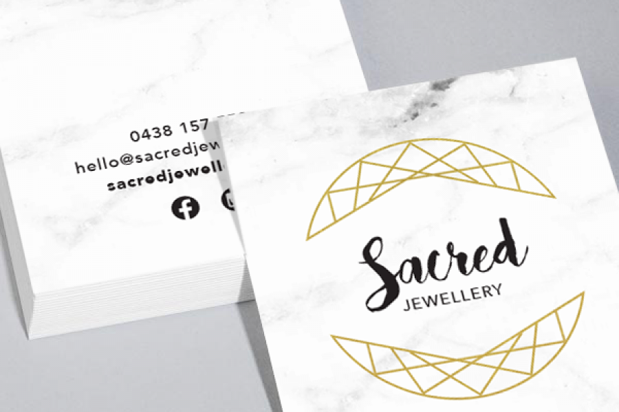 Business card printing creative logo graphic and web design square business card reheart Gallery